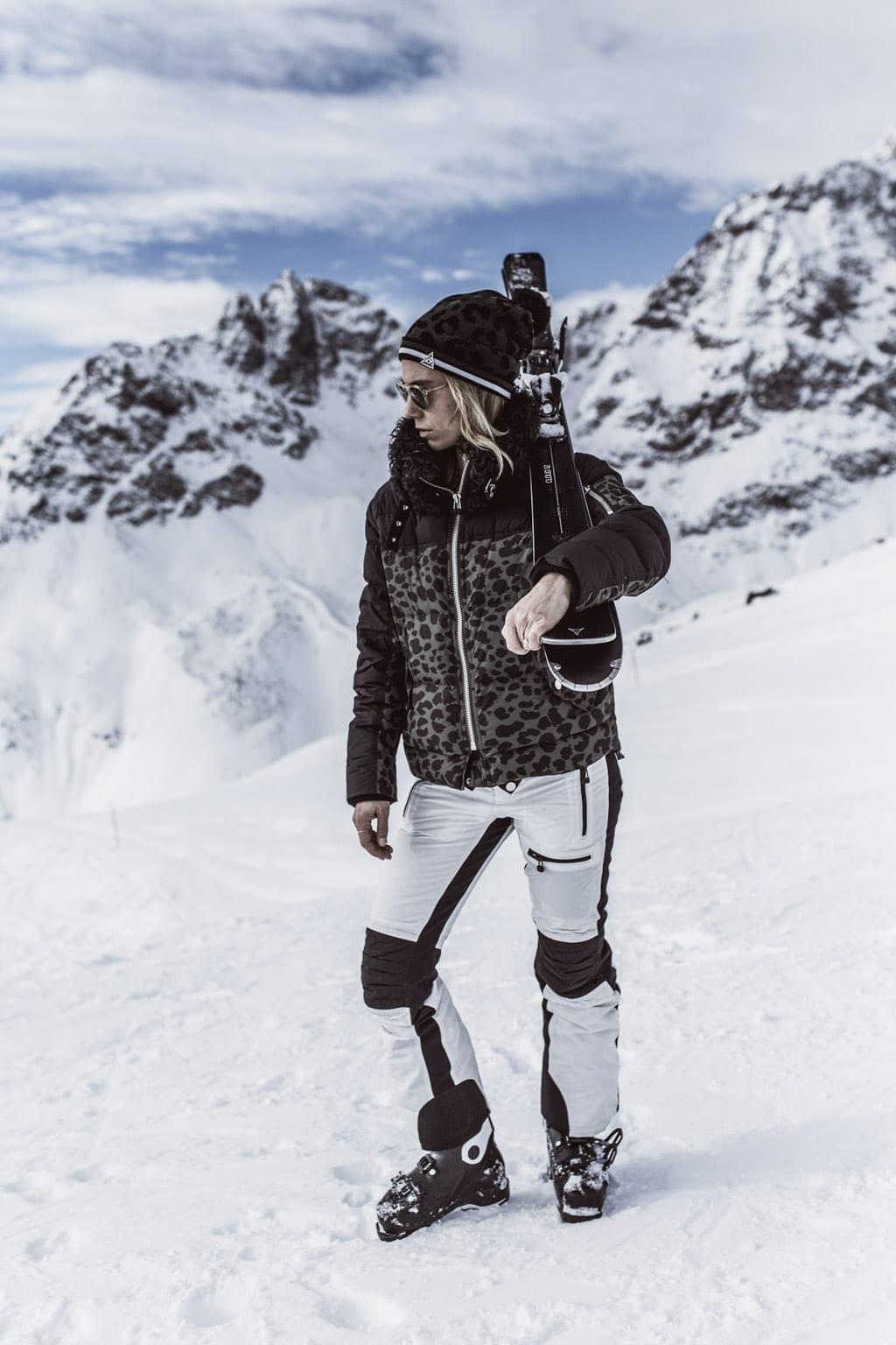 Karin Kaswurm mit SOS in St Moritz